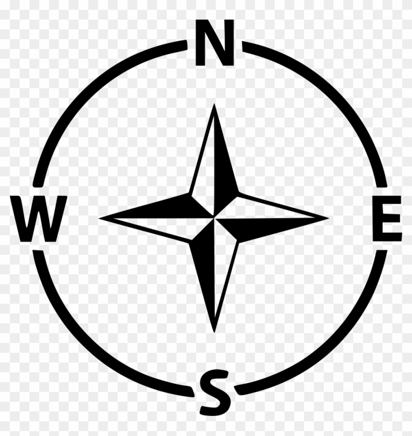 Compass Navigation Arrow Direction Gps West East North - North South East West Icon Clipart #3339164