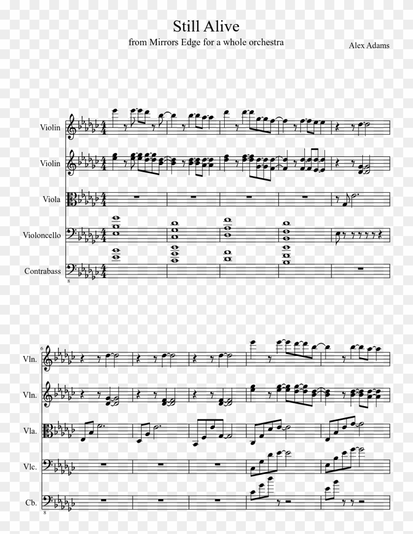 Still Alive Sheet Music Composed By Alex Adams 1 Of Semper Paratus Sheet Music Trumpet Clipart 3343861 Pikpng