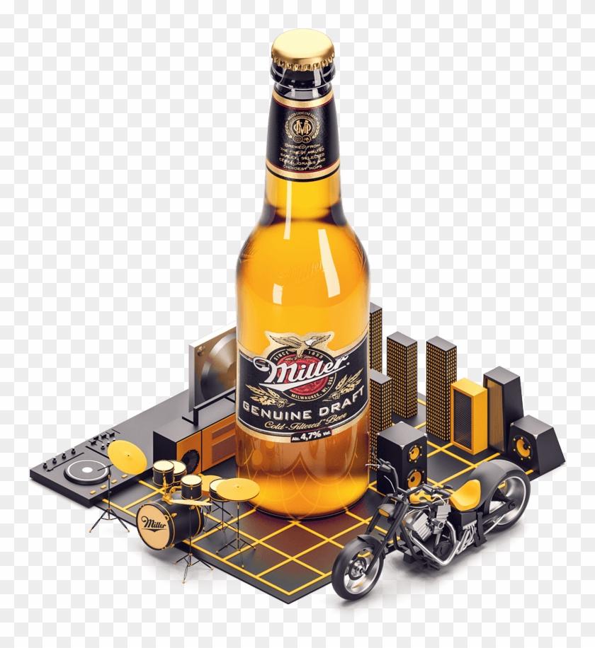 High Life - Beer Bottle Clipart #3345791