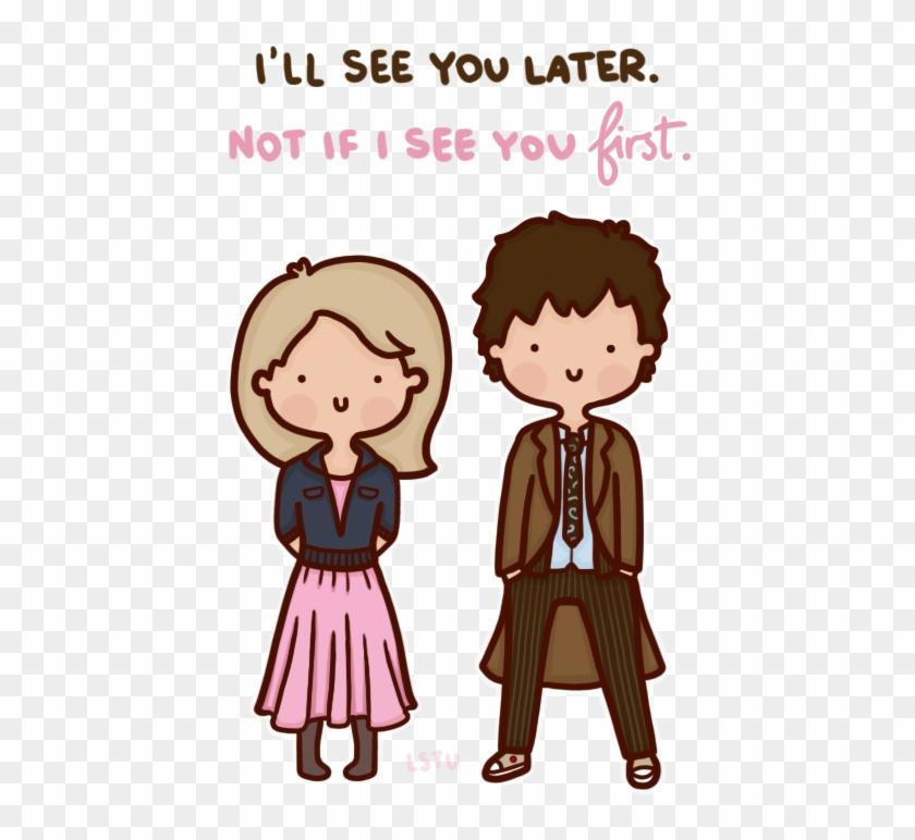 Doctor Who Cartoon Fanart Rose Tyler Ten Doctor Who - Cartoon Clipart #3354543