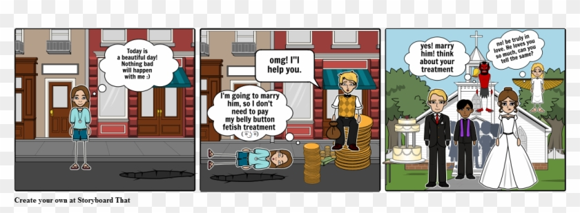 The Belly Button Treatment - Cartoon Clipart #3357629