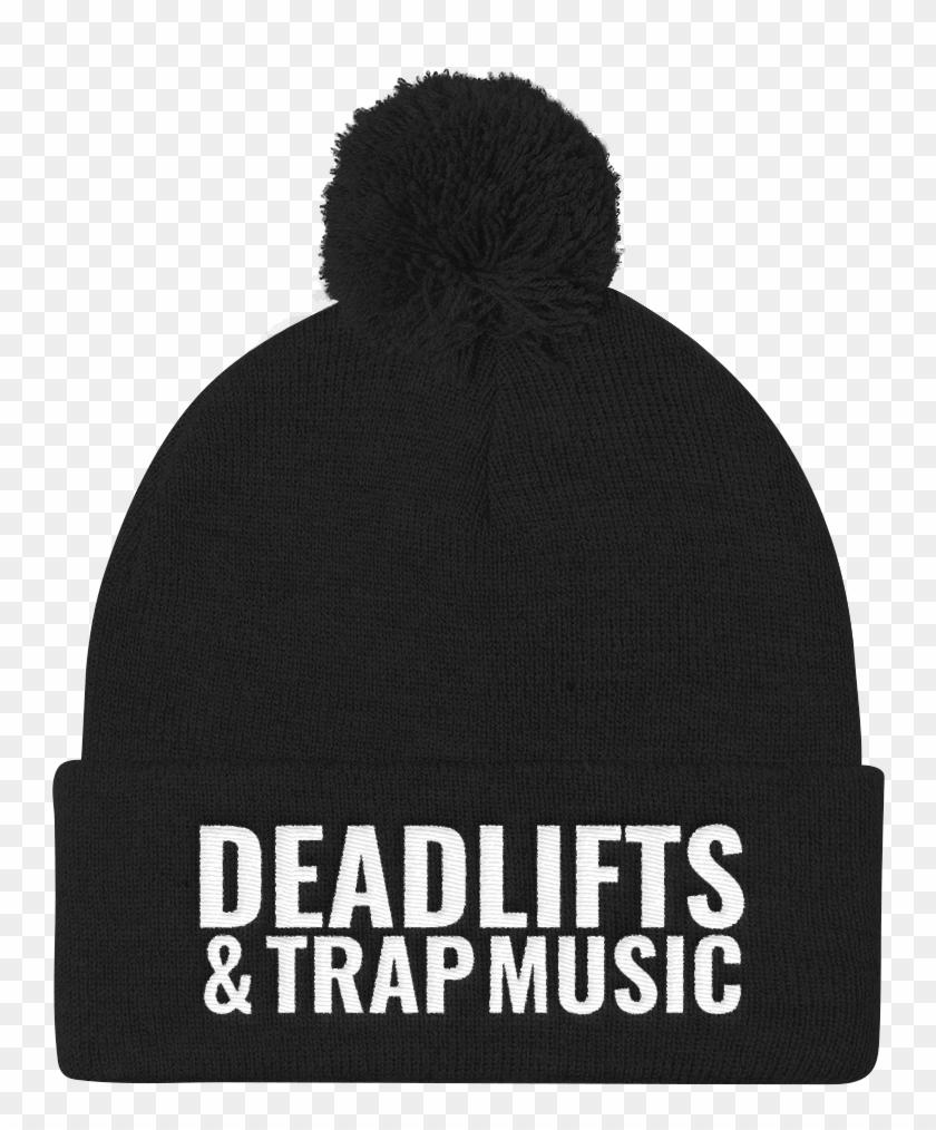 Deadlifts & Trap Music Pom Pom Knit Cap - Beanie Clipart #3358128