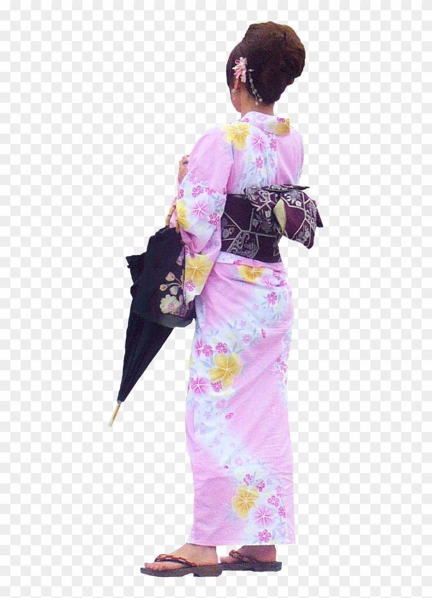 Japanese Woman Png - Traditional Japanese Clothing Back Clipart #3360931