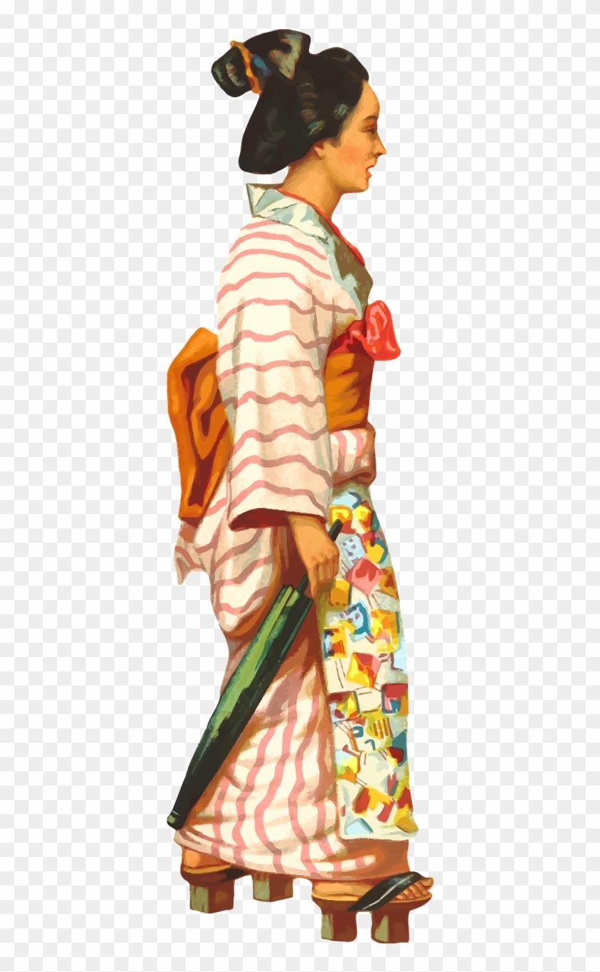 Female Japan Japanese - Japanese Dance Transparent Background Clipart #3360967