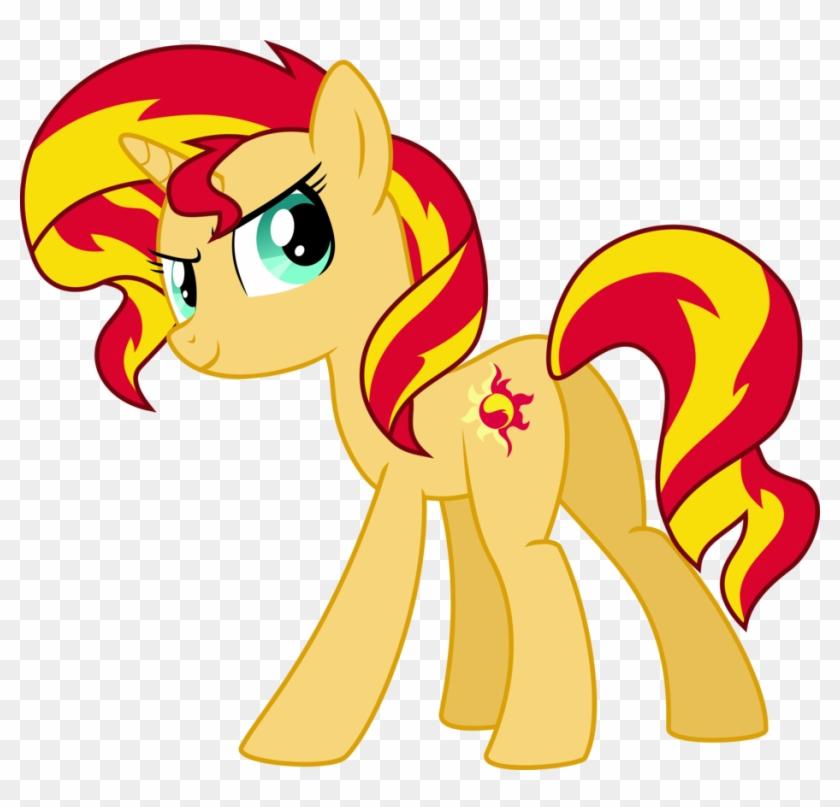Respect Celestia's Former Pupil - Sunset Shimmer Pony Version Clipart #3370560