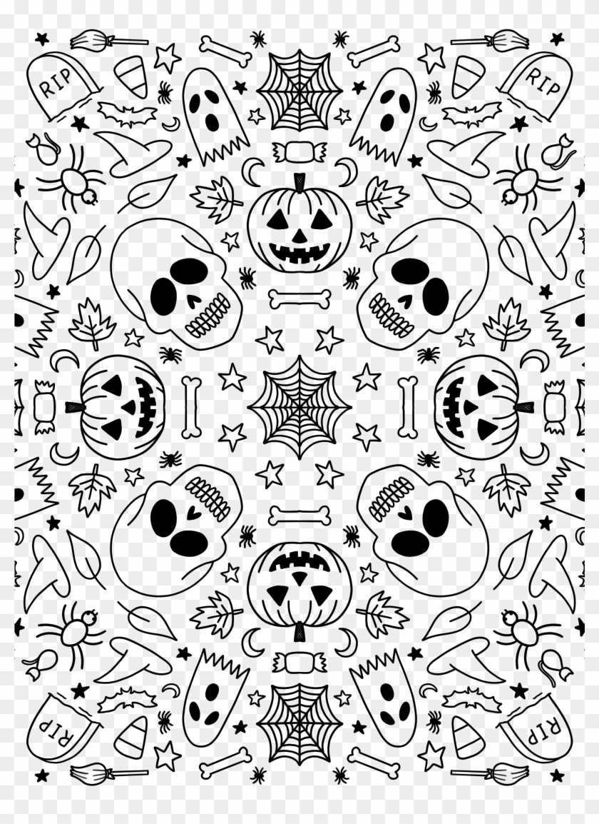 Download The Halloween Symmetry Design As A Transparent ...