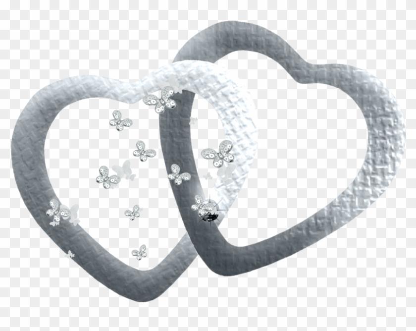 #mq #silver #heart #hearts #butterfly - Heart Clipart #3380405