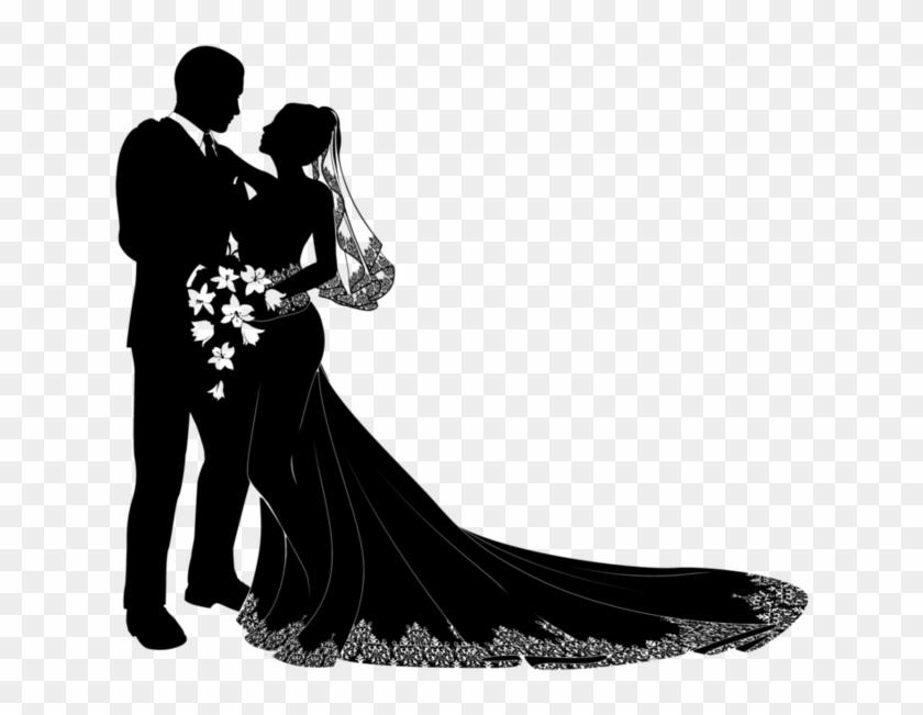 Bride Groom - Wedding Couple Vector Png Clipart #3383301
