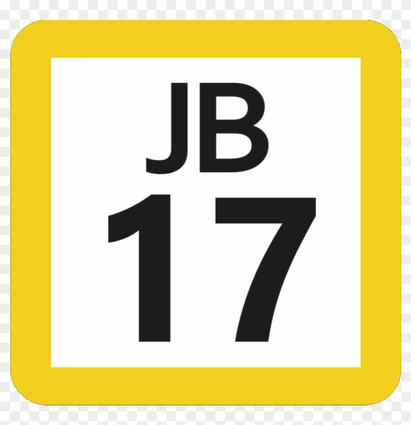Jr Jb-17 Station Number - Sign Clipart #3388212