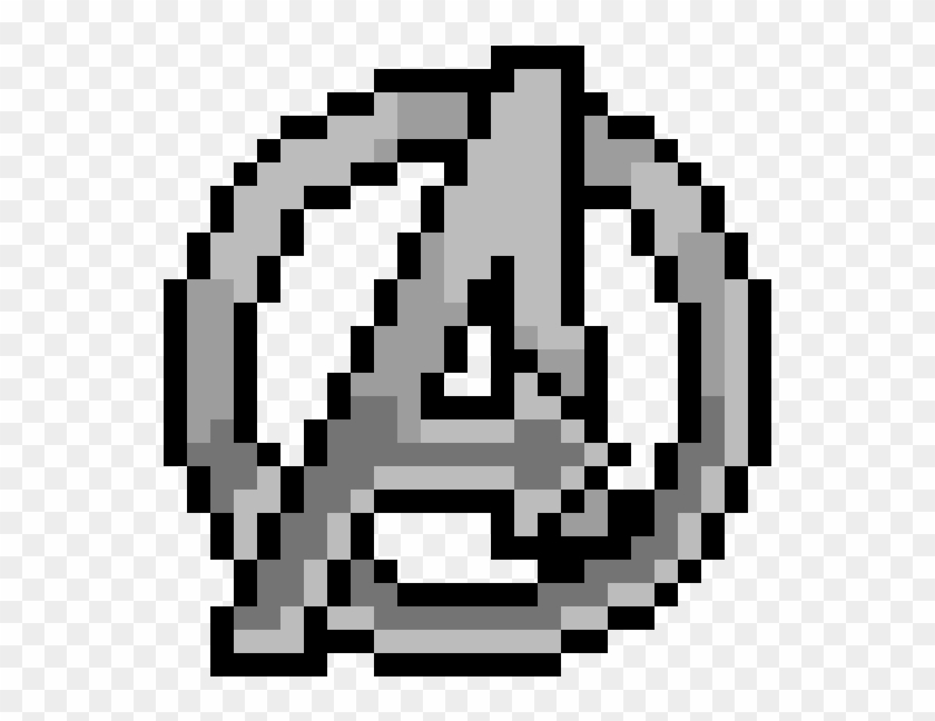 minecraft logo pixel art grid