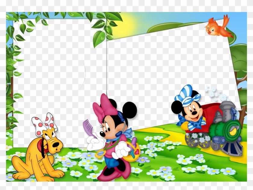 Frames Png Mickey E Minnie Central Photoshop - Cartoon Clipart #3396734