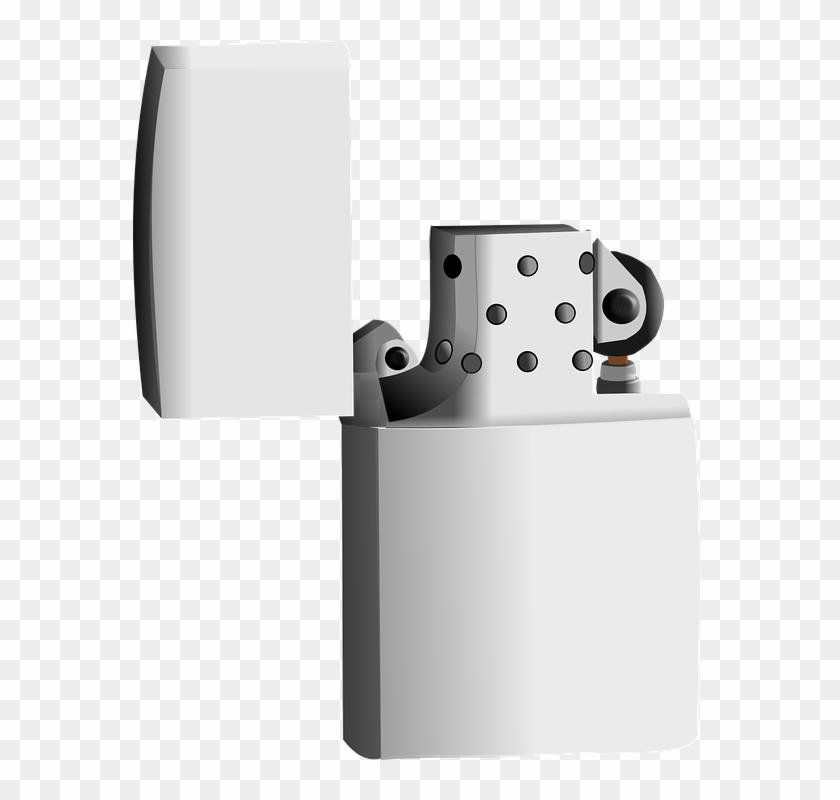 Lighter, Fire, Smoking, Cigarette, Metal - Lighter For Png Clipart #341648