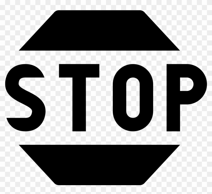 Stop Sign 2 Icon - Sign Clipart #344811