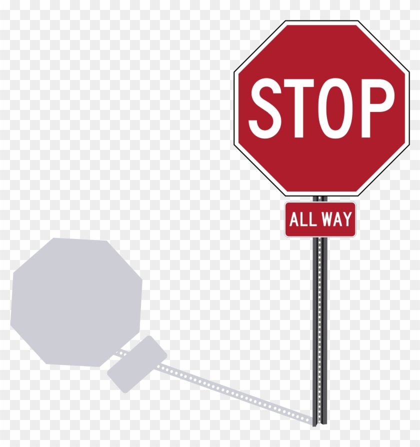 This Free Icons Png Design Of Stop Sign On Post, Transparent Png #344905