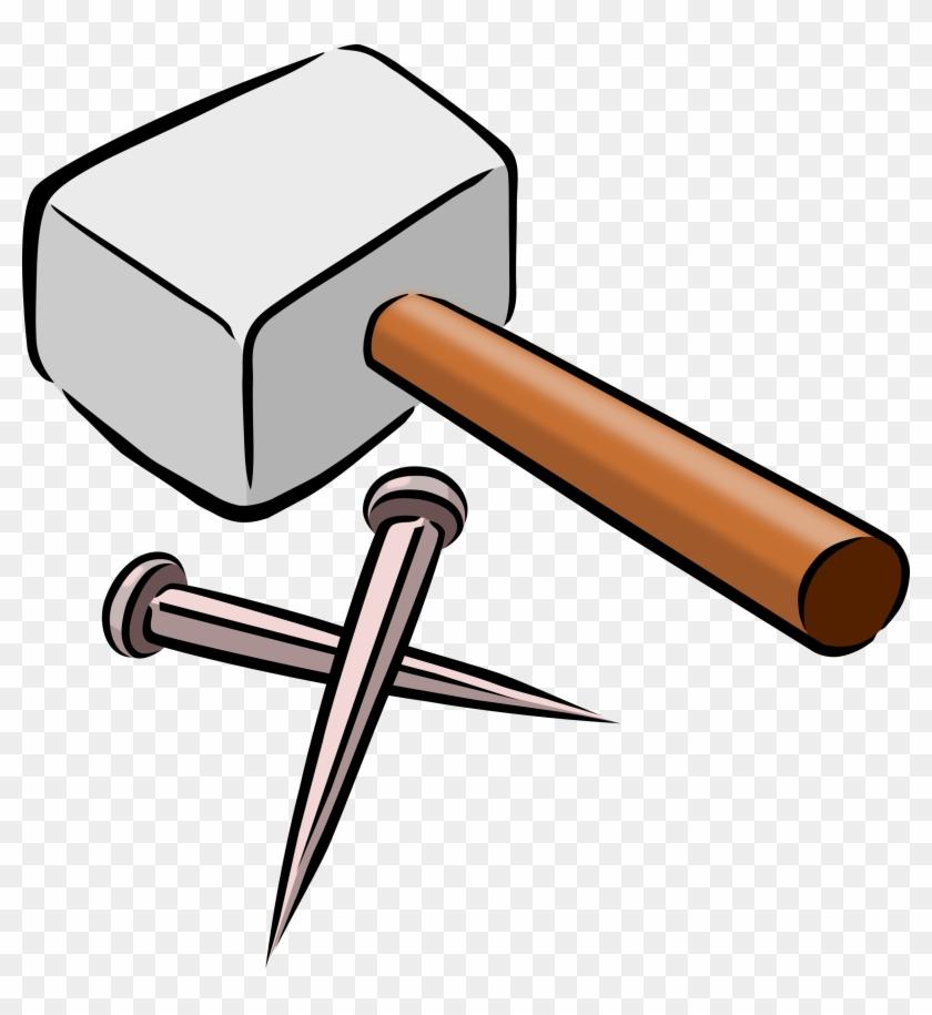 2303 X 2400 3 , Hammer And Nails Cartoon Clipart (348968