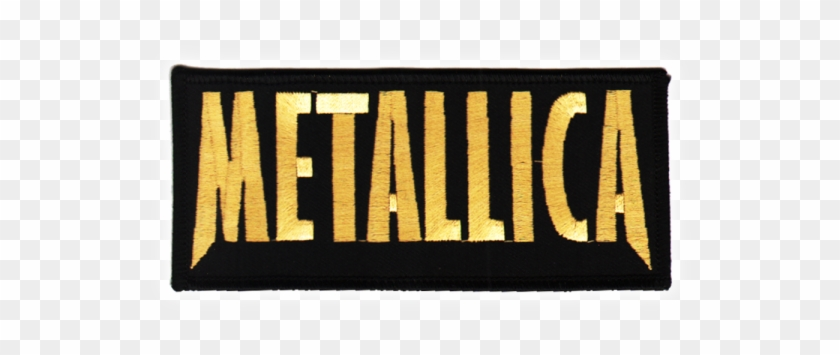 Main Page Small Patches Metallica Gold Logo Label Clipart 349816 Pikpng