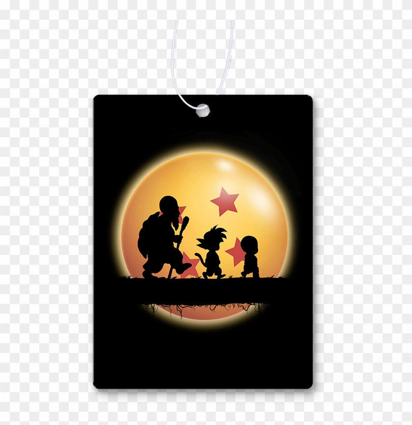 Hakuna Matata Kame Air Freshener - Goku Krillin And Roshi Clipart #3400833