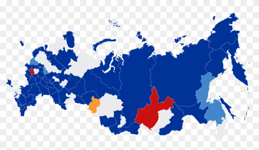 Russia Map Png , Png Download - Russian Elections 2018 Map Clipart #3404336