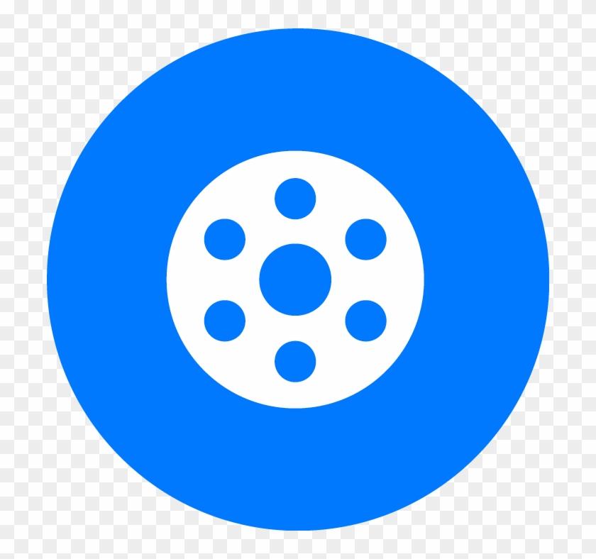 Create Digital Showreel Icon - Facebook Messenger Round Icon Clipart #3406298