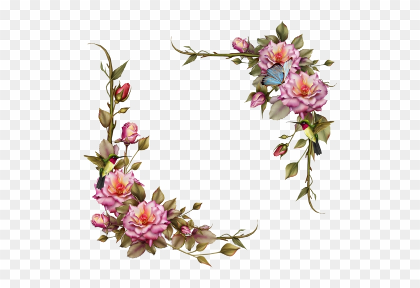 #flowers #flower #floral #corners #corner #frames #frame - Frame Logo Flower 3d Clipart #3407164