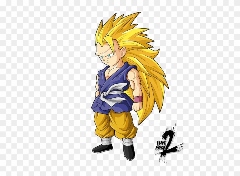 Goku Vegeta Renders Gt - Dragon Ball Goku Niño Ssj3 Clipart #3407907