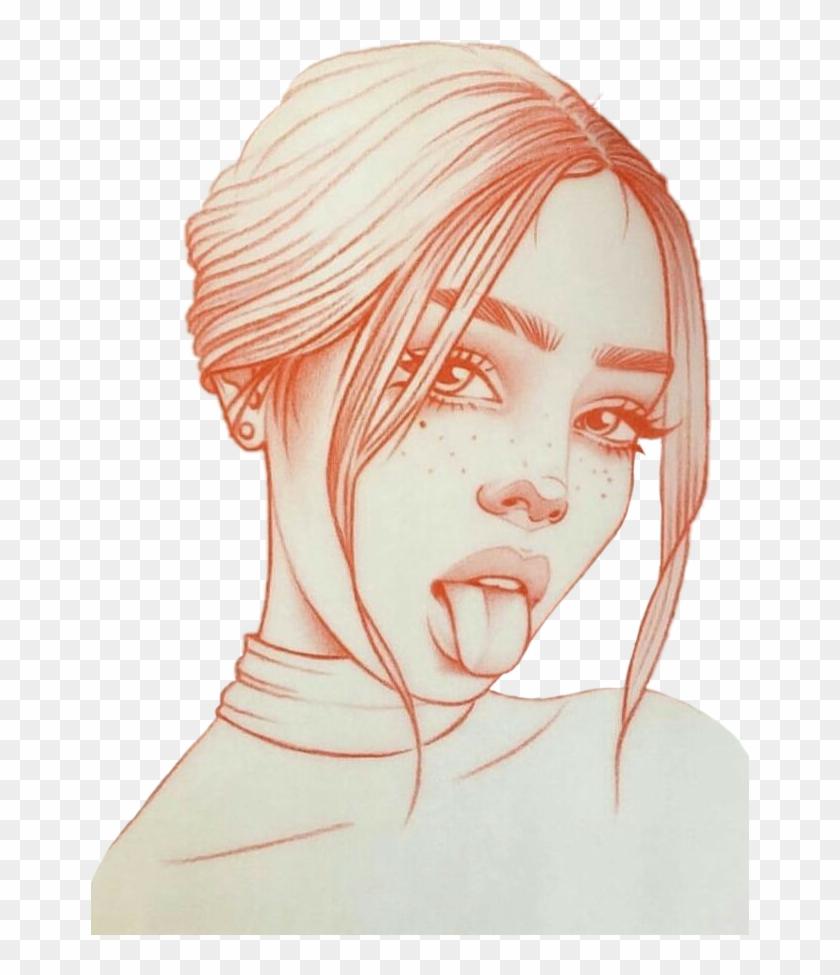 #chica #mujer #dibujo #dibujos
