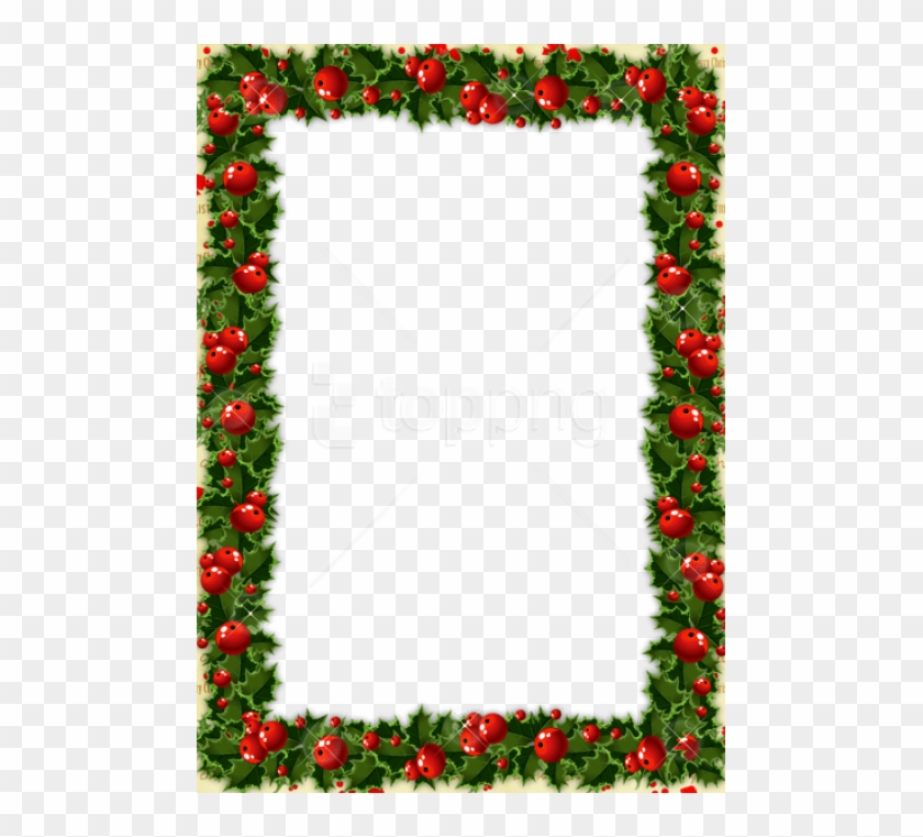 Free Png Transparent Christmas Photo Frame With Mistletoe - Christmas Transparent Border Clipart #3415826