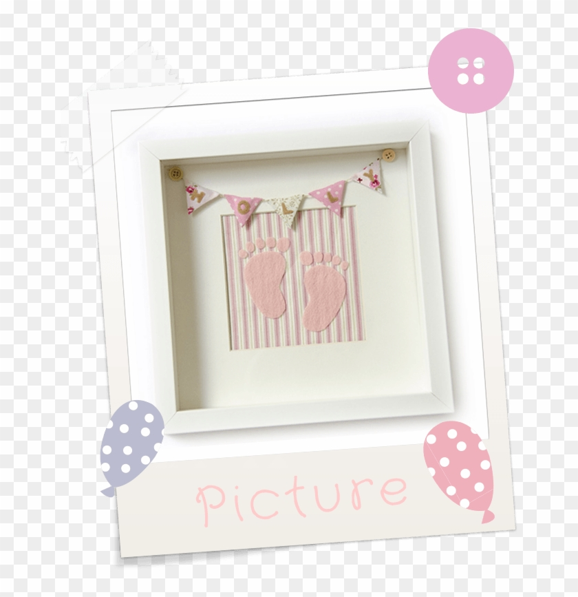 Girl Pink Footprints Personalised Baby Shower Bunting