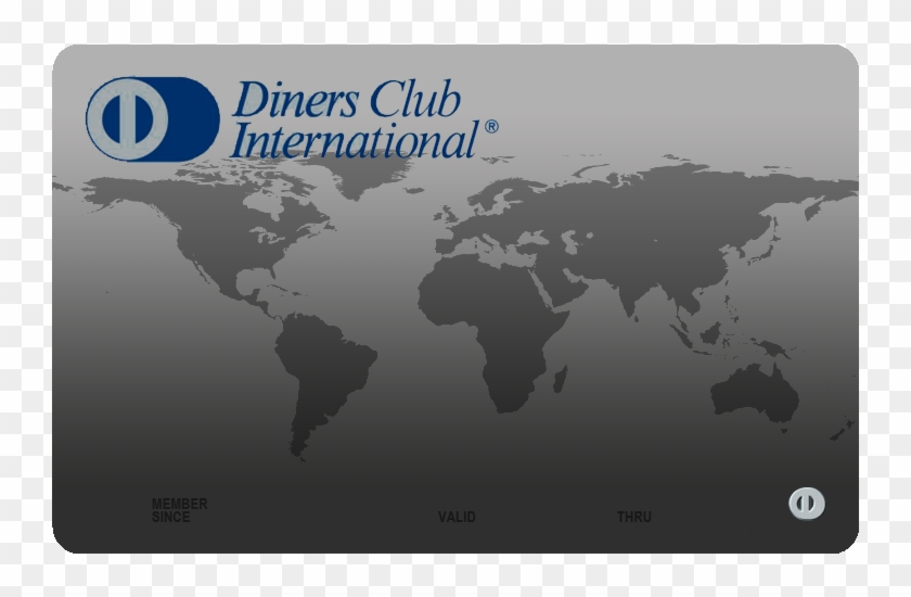 Credit Card Diners Club - Plastic Concentration In Ocean Clipart #3421515
