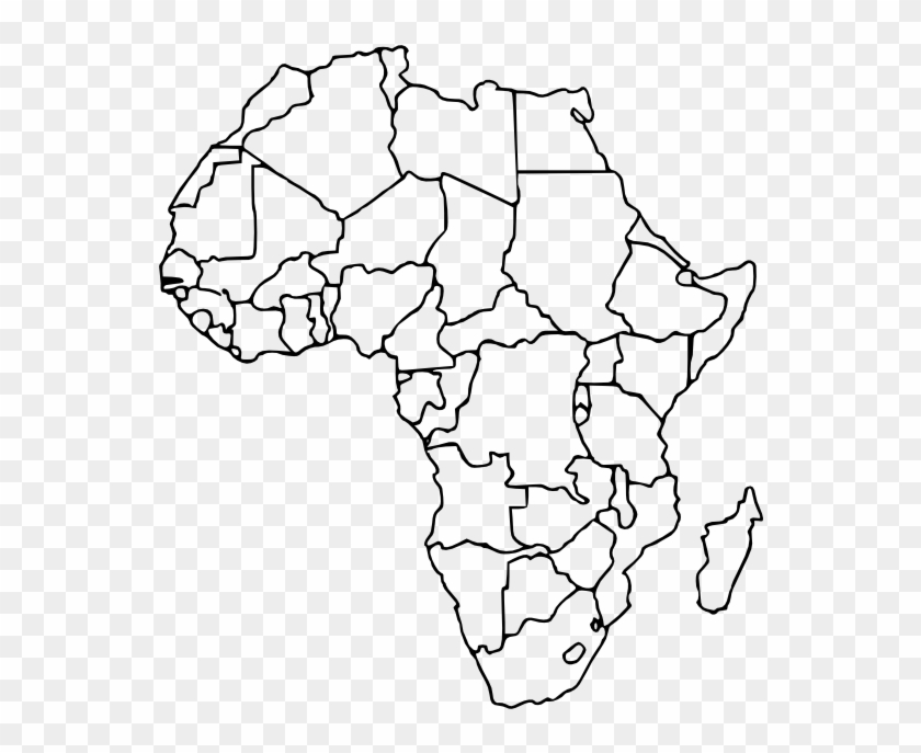 Africa Political Map Without Names Contemporary Design Blank Africa Map 15 Africa Blank   Africa