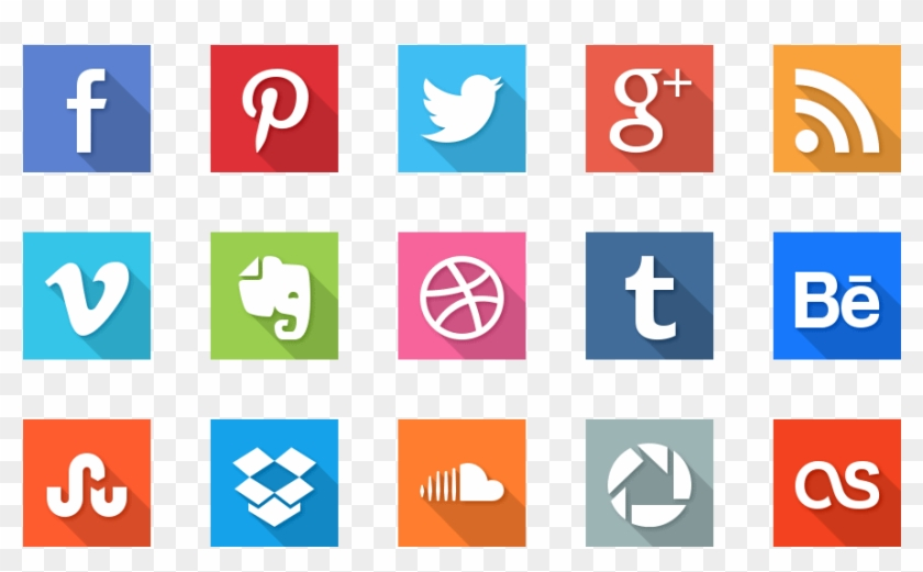 The Wonders Of Social Media - School Management Software Icons Clipart #3431220
