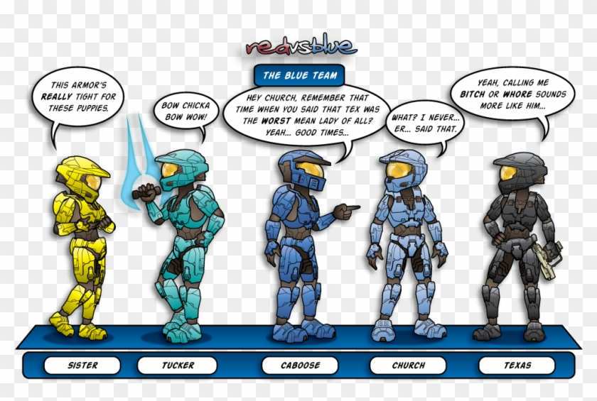 The Team By - Halo Red Vs Blue Teams Clipart #3437191