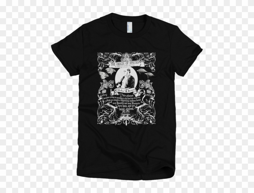 Charles Darwin Origin Of Species Graphic T Shirt - Puce Mary T Shirt Clipart #3438451