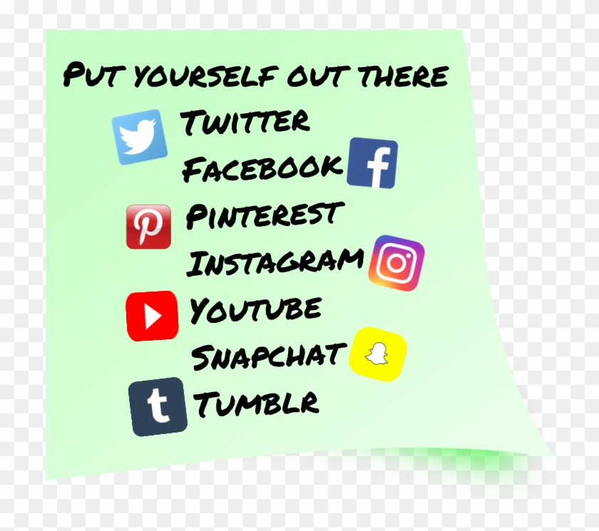 Sticky Note Twitter Snapchat Facebook Instagram Youtube - Circle Clipart #3444198