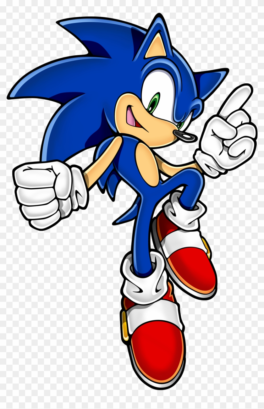 Typically The Modern Sonic Design Uses This Style While - Sonic Rush Adventure Sonic Clipart #3449229
