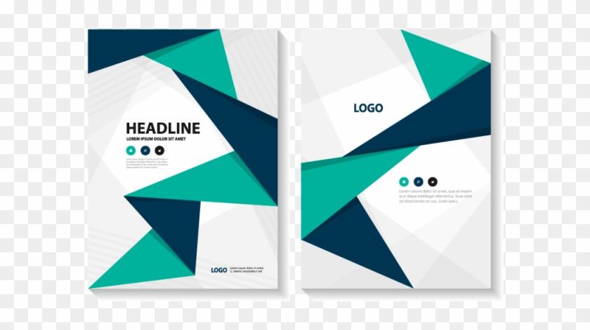 Clipart Freeuse Download Abstract Brochure Report For - แผ่น พับ เก๋ ๆ - Png Download #3451184
