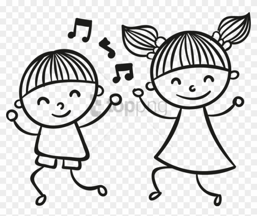 Free Png Children Dancing Clipart Png Png Image With Dancing Kids Drawing Transparent Png 3459332 Pikpng