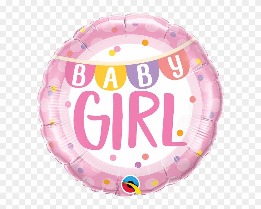 Baby Girl Banner Dots 18 Foil Balloon Balloon Clipart 3462871 Pikpng