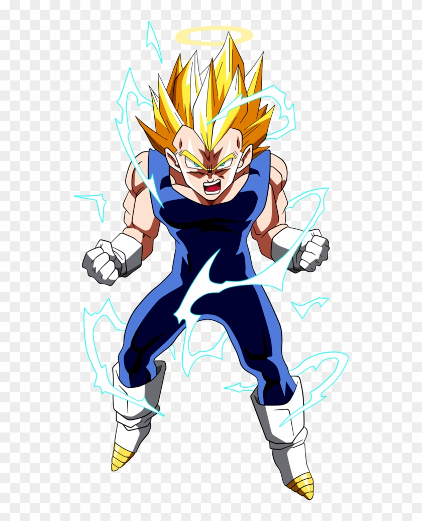 Vegeta Super Saiyan - Dragon Ball Z Vegeta Ssj2 Clipart #3477100