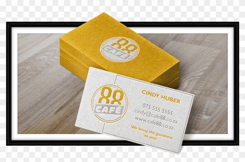 Cafe88 Business Card Stack - Graphic Design Clipart #3478917