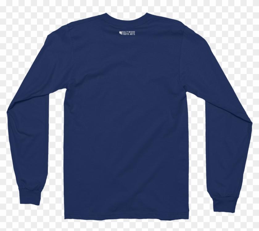 Destinywhite Bya Logowhite Mockup Back Flat Navy - Long Sleeve Mockup Navy Clipart #3485367