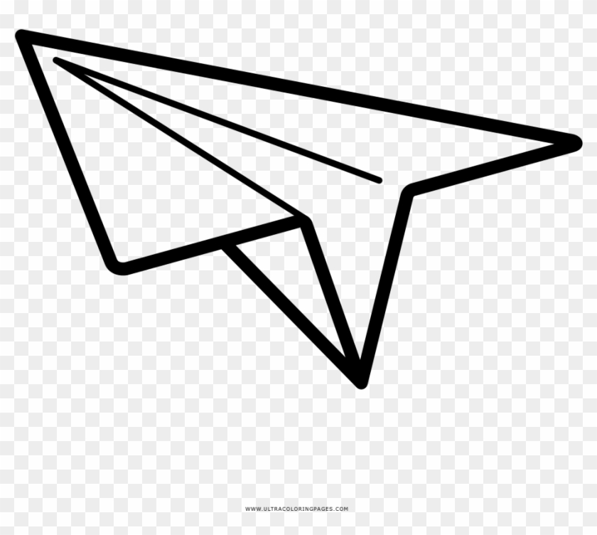 Paper Airplane Coloring Page Line Art Clipart 3487730 Pikpng