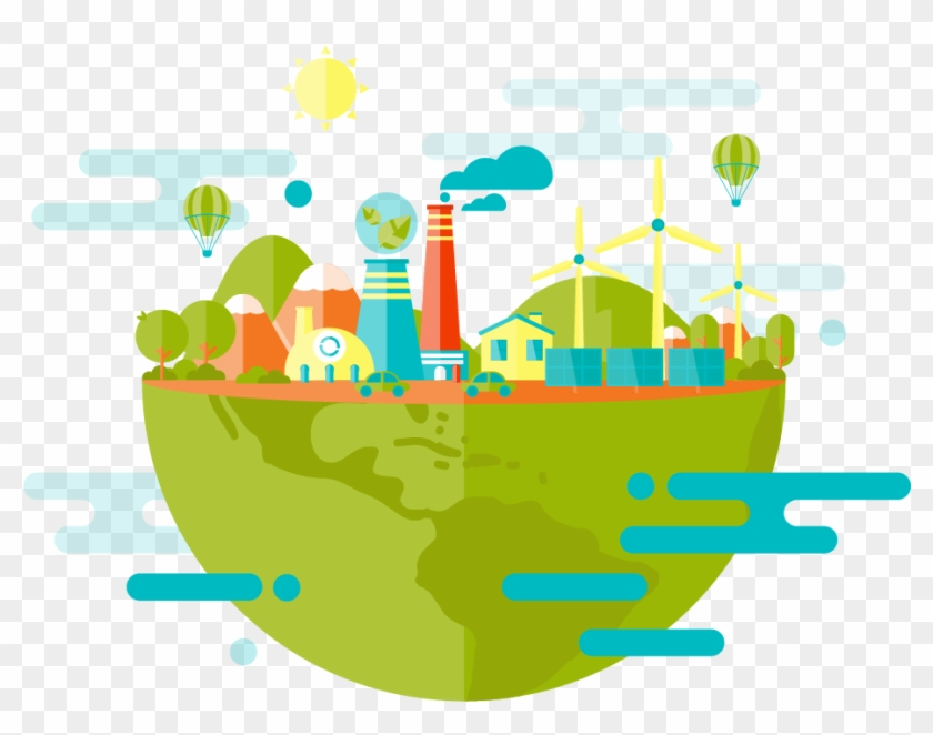 Green New York After Using Renewable Energy Clipart #3493605