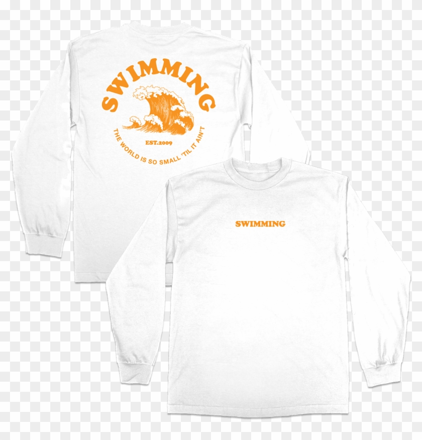 Swimming Wave Long Sleeve - Creative Coworking Clipart #3494763