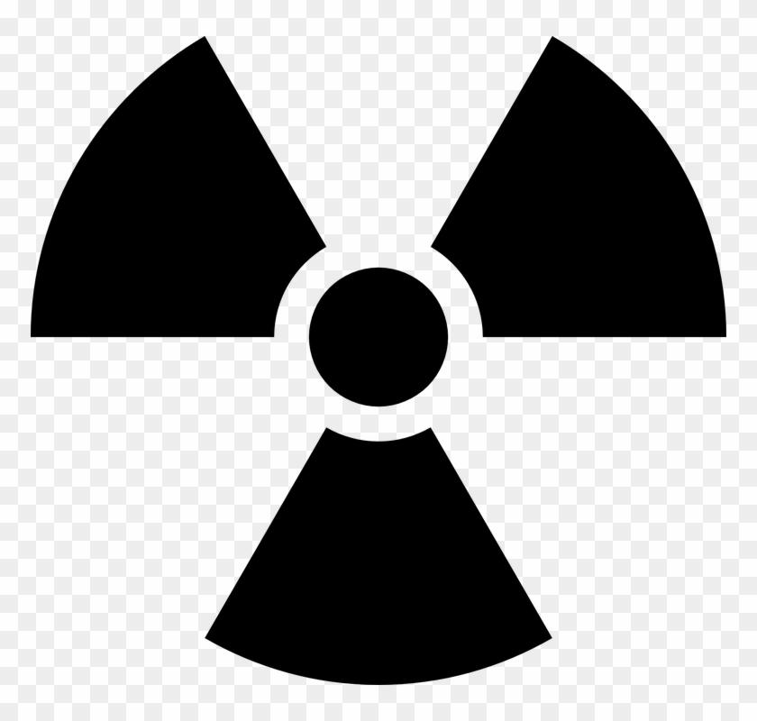 Biohazard Symbol Clipart Radiological Hazard - Radiation Symbol Black And White - Png Download #350012