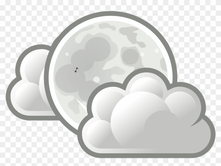 Free Stock Photo - Full Moon With Clouds Drawings Clipart #351436