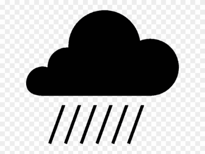 Rain Cloud Silhouette , Png Download Clipart #353266