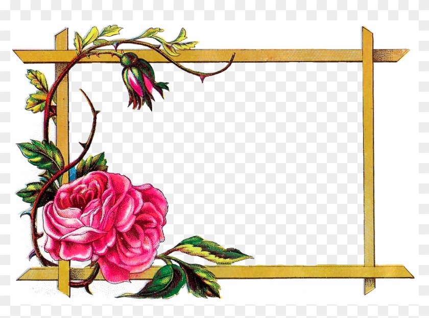 Digital Clipart Craft Rose Border Download - Border Designs Of Flowers - Png Download #357380