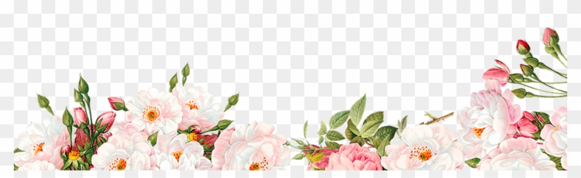 Watercolour Flower Border Png Image Free Searchpng - Free Flower Border Png, Transparent Png #357560