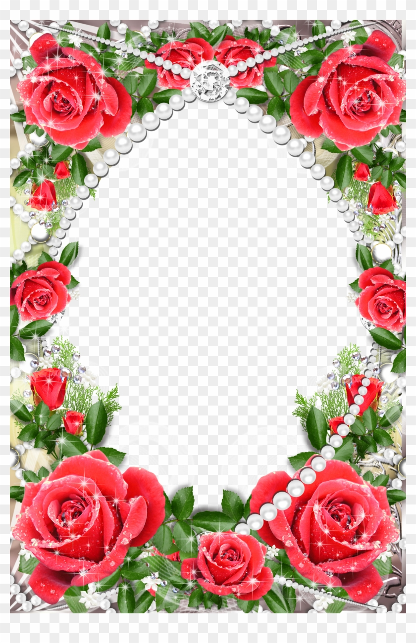 Red Rose Borders And Frames Png Clipart #357860